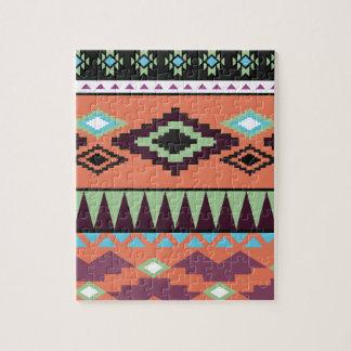 Aztekの種族の南西幾何学的 ジグソーパズル