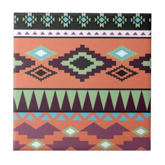 Aztekの種族の南西幾何学的 タイル