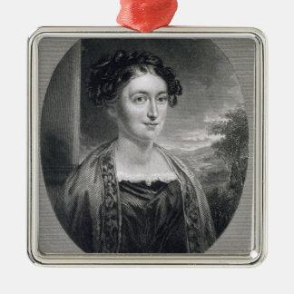 Bによって刻まれるLydia Huntley Sigourney (1791-1865年) メタルオーナメント