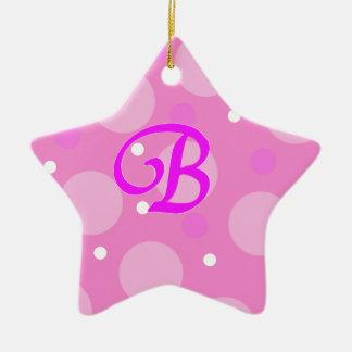 Bのピンク セラミックオーナメント