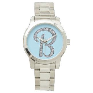 Bのモノグラムのきらきら光るな腕時計 腕時計