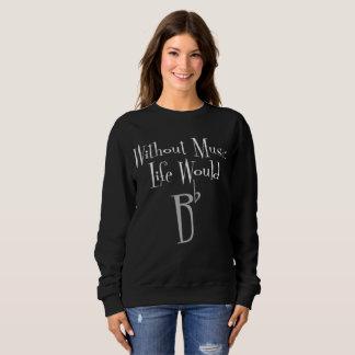 Bの平らで暗い女性の基本的なスエットシャツ スウェットシャツ