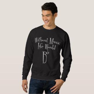 Bの平らな人の基本的な暗いスエットシャツ スウェットシャツ