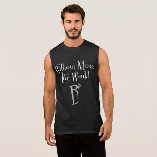 Bの平らな人の暗い筋肉タンク 袖なしシャツ