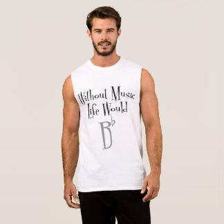 Bの平らな人の筋肉タンク 袖なしシャツ