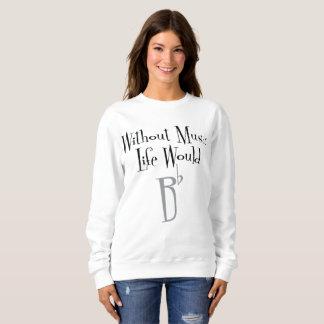 Bの平らな女性の基本的なスエットシャツ スウェットシャツ