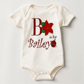 Bはベイリーのベビーの初めてのクリスマスのためです ベビーボディスーツ