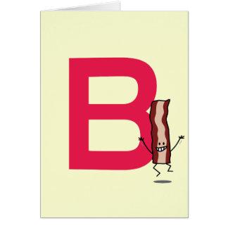 Bはベーコンの幸せな跳躍のストリップabcの手紙のためです カード