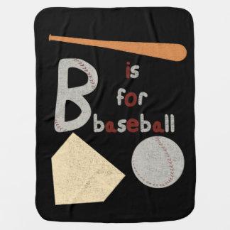 Bは野球のためです ベビー ブランケット