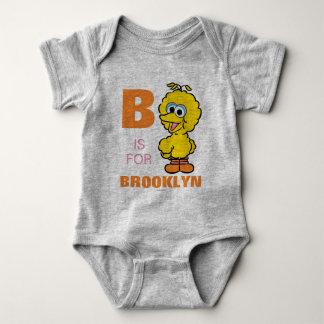 Bは|があなたの名前を加える大きい鳥のためです ベビーボディスーツ