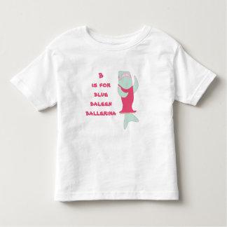 Bはbaleenのバレリーナのためです トドラーTシャツ