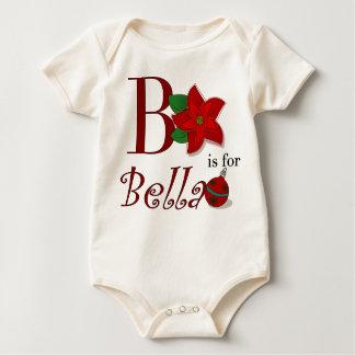 BはBellaのベビーの初めてのクリスマスのためです ベビーボディスーツ