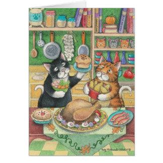 B及びT #23の感謝祭のノート カード