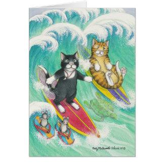 B及びT #38のサーフィンのノート カード
