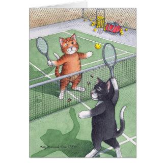 B及びT #56のテニスの誕生日のノート カード
