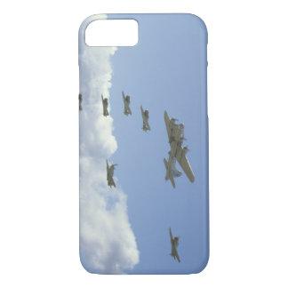 B17のムスタング、Formation_WWIIの飛行機の5 T6、 iPhone 8/7ケース