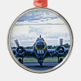 B17ヴィンテージの飛行機の航空機の飛行 メタルオーナメント