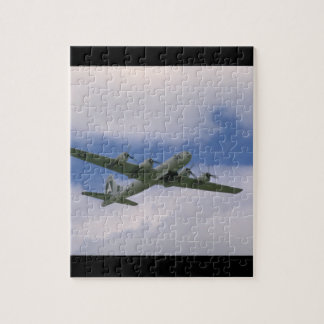 B29、青空およびClouds_WWIIの飛行機 ジグソーパズル