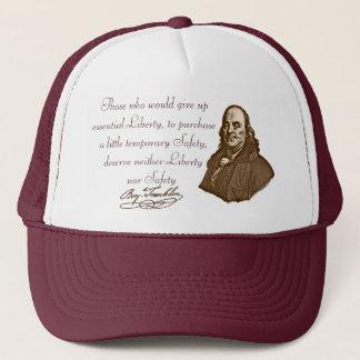 B.フランクリン: 自由及び安全-帽子#2 キャップ
