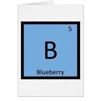 B -ブルーベリーのフルーツ化学周期表 カード