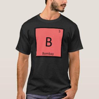 B -ボンベイ猫のインド化学要素の記号 Tシャツ