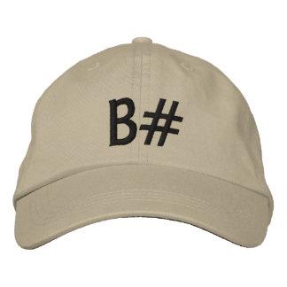 B# 刺繍入りキャップ