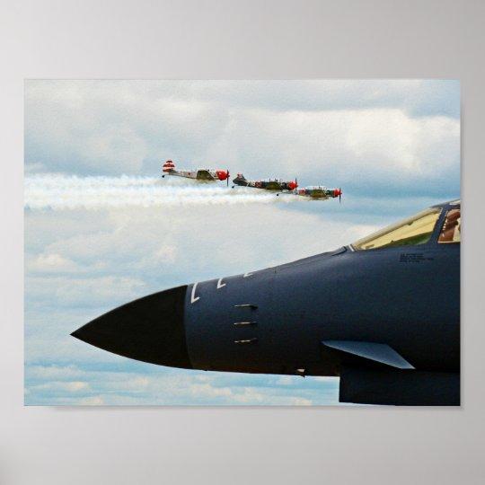 B-1爆撃機およびWWIIの戦闘機 ポスター