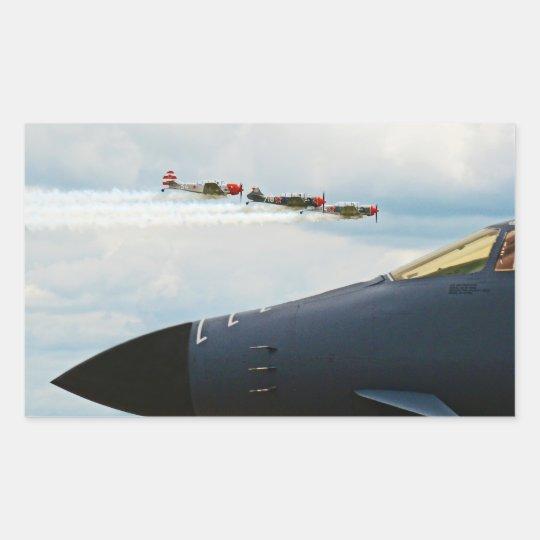 B-1爆撃機およびWWIIの戦闘機 長方形シール