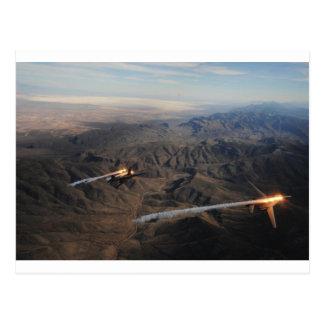 B-1爆撃機の火炎信号 ポストカード