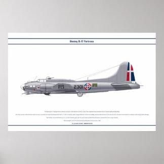 B-17Gのドミニカ共和国1 ポスター