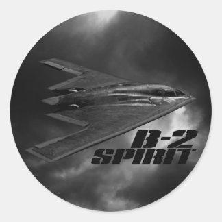 B-2精神のクラシックな円形のステッカー ラウンドシール