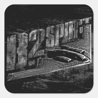 B-2精神の正方形のステッカー スクエアシール