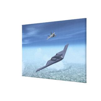 B-2精神及びF-22猛禽 キャンバスプリント