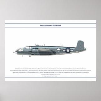 B-25米国の海兵隊 ポスター