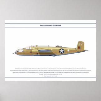 B-25米国434 BS ポスター