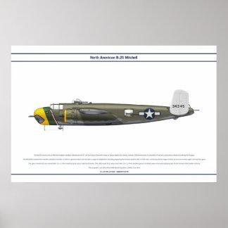B-25米国498 BS ポスター