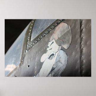 B-25 「気難しい」Noseartのプリント ポスター