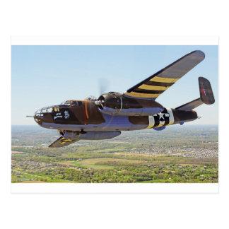 B-25 Mitchellのヴィンテージの航空機 ポストカード