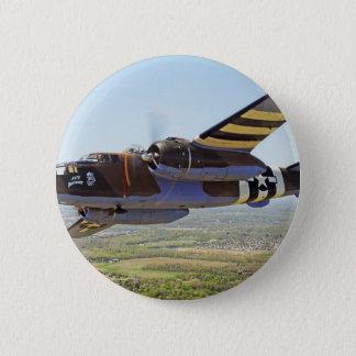 B-25 Mitchellのヴィンテージの航空機 缶バッジ