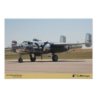 B-25 Mitchellの爆撃機の飛行機 ポスター