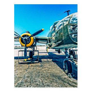 B-25 Mitchellの爆撃機 ポストカード