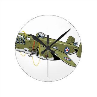 B-25 Mitchell ラウンド壁時計
