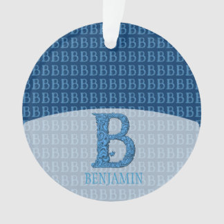 B - Falckのアルファベット(青い) オーナメント