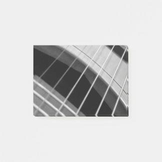 B/Wのギターのイメージの付箋のパッド ポストイット