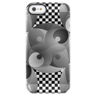 B/Wのバランス クリア iPhone SE/5/5sケース