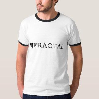 B&Wのフラクタルの信号器のTシャツ Tシャツ