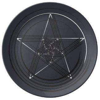B&Wのペンの星のプレート 磁器プレート