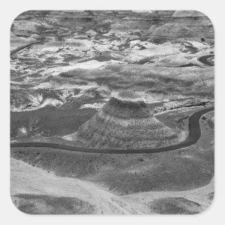 B&Wの化石森林 スクエアシール