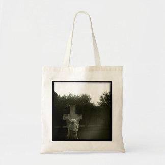 B&Wの墓地の写真撮影のトートバック トートバッグ
