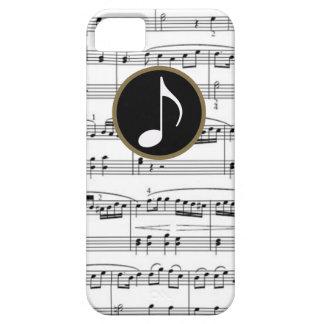 b&wの音符 iPhone SE/5/5s ケース